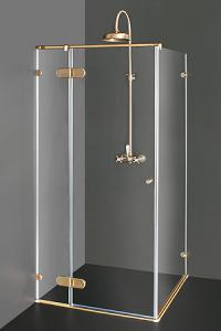 Dusjkabinetter med bronse-  beslag