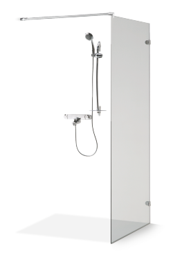 Rammeløs dusjvegg DORA